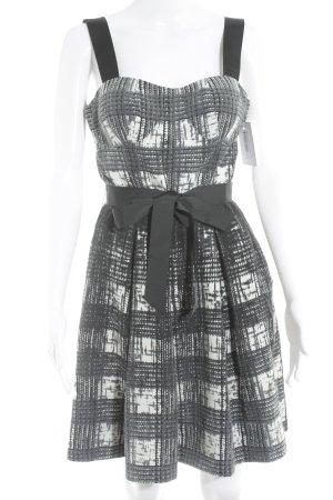 Guess A-Linien Kleid abstraktes Muster Bänderverzierung