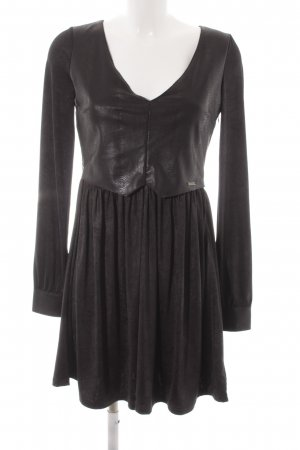 Guess A-Linien Kleid schwarz Animalmuster Party-Look