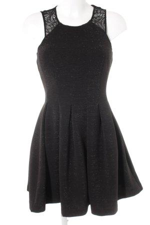 Guess Vestido línea A negro brillante
