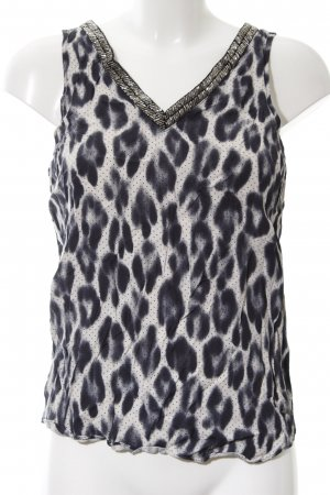 Guess A Line Top natural white-black allover print casual look