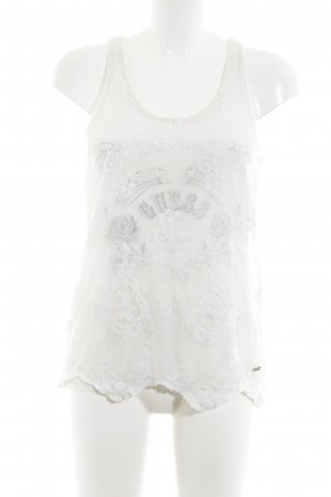 Guess A-Linien Top creme Allover-Druck Casual-Look