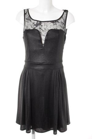 Guess Abendkleid schwarz Glanz-Optik