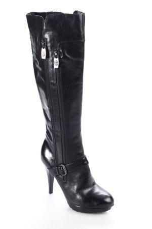 Guess Absatz Stiefel schwarz Eleganz-Look