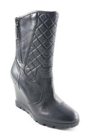Guess Absatz Stiefel schwarz Steppmuster schlichter Stil