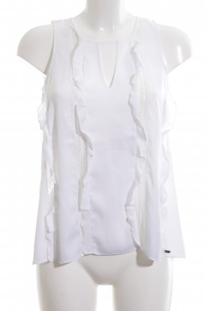 Guess Sleeveless Blouse white casual look