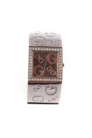Guess Analoog horloge brons-antraciet Jaren 90 stijl