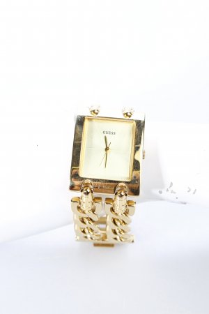 Guess Analoguhr goldfarben Casual-Look