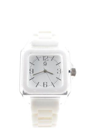 Guess Reloj analógico blanco estilo deportivo