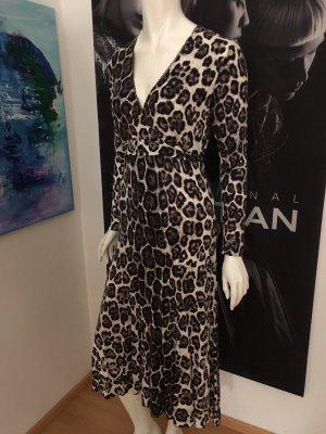 Guess Animal Print Kleid V-Ausschnitt Small mit Etikette