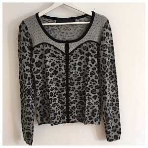 GUESS Animalprint Strickjacke