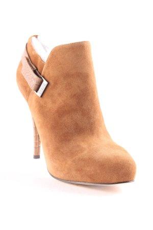 """Guess Botas de tobillo """"Ankle Boot Suede Cognac"""" marrón claro"""