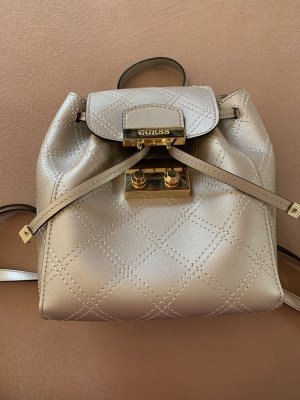 Guess Mochila escolar color plata
