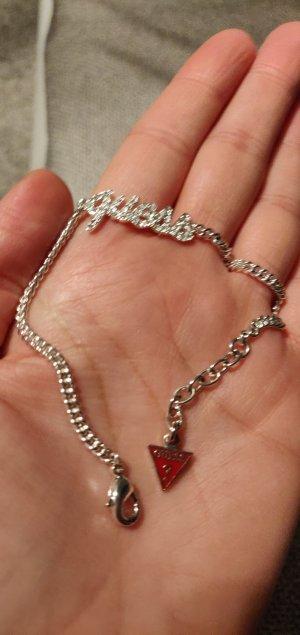 Guess Braccialetto sottile argento-rosso