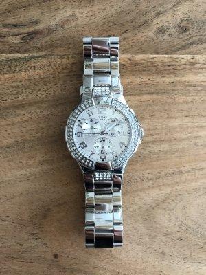 Guess Reloj con pulsera metálica blanco-color plata