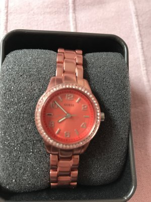 Guess Armbanduhr Silber Apricot