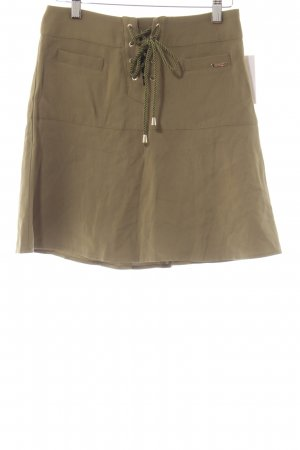 Guess Asymmetry Skirt green grey casual look