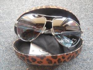 Guess Aviator Sonnenbrille GU 7297 mit Straßherz türkis