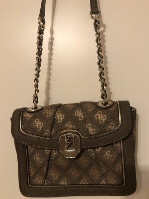 Guess Carry Bag dark grey-silver-colored