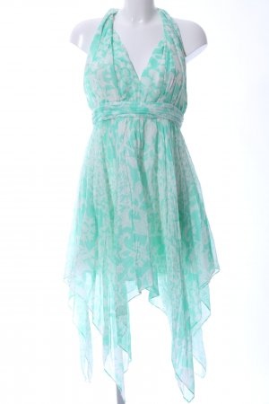 Guess Babydoll Dress turquoise-natural white allover print elegant