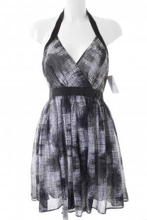 Guess Babydoll Dress black-white abstract pattern elegant