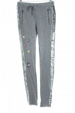 Guess Pantalón abombado color plata-gris moteado look casual