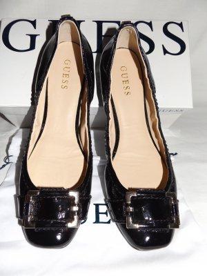 GUESS Ballerinas, schwarzes Lack Leder, Gr. 41. Wie NEU. NP 100 €.