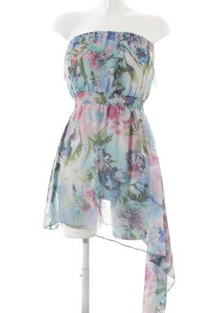 Guess Vestido bandeau estampado floral estilo romántico