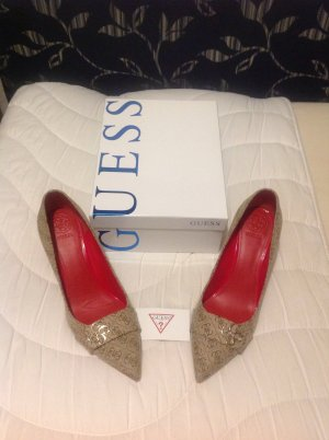 Guess Stiletto rouge-beige cuir