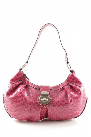 Guess Beuteltasche magenta Animalmuster Casual-Look