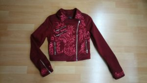Guess Veste motard bordeau