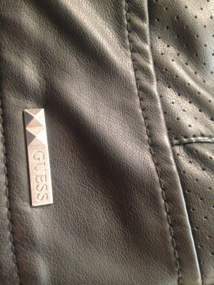 Guess Giacca in pelle nero Finta pelle