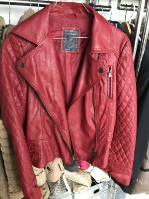 Guess Veste motard rouge