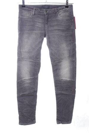 Guess Biker jeans lichtgrijs casual uitstraling