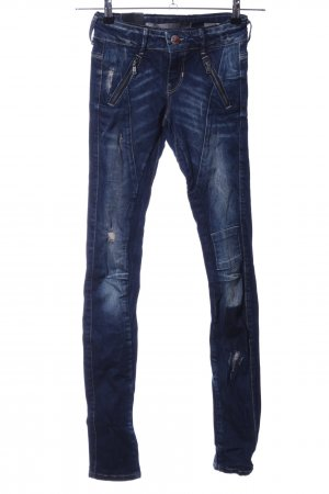 Guess Biker jeans blauw casual uitstraling