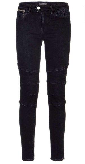Guess Biker jeans zwart-donkerblauw