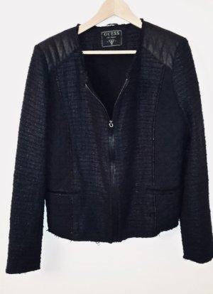 Guess Blazer Tweed azul oscuro-negro Algodón