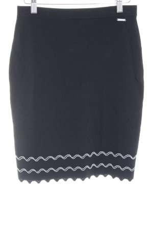 Guess Pencil Skirt black-white loosely knitted pattern elegant