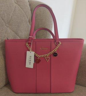 guess Blejan Tote shopper neu pink gold Tasche Handtasche Schultertasche