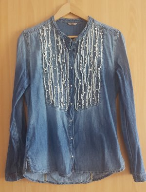 Guess Blouse blauw-staalblauw