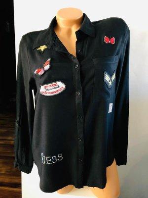 Guess Blusa larga negro