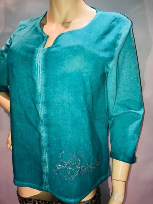 Guess Bluse Tunika in gr M Farbe Türkis Strass