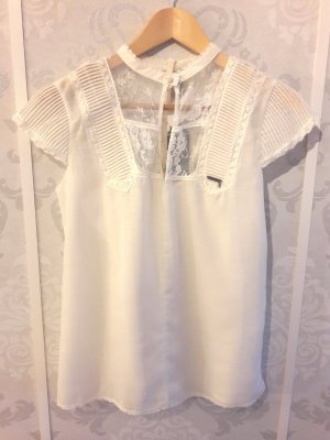 Guess Blusa in merletto bianco sporco Poliestere
