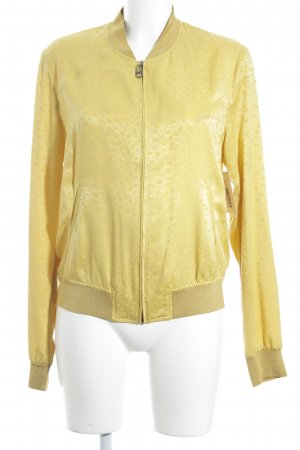 Guess Blusenjacke gelb-dunkelgelb Animalmuster minimalistischer Stil