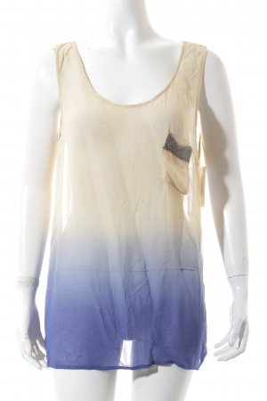 Guess Camisa de mujer beige claro-azul degradado de color look transparente
