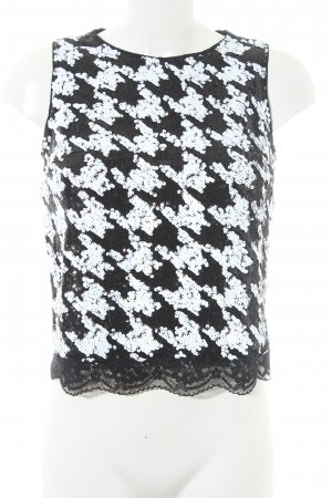 Guess Blouse Top black-white abstract pattern extravagant style