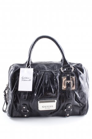 Guess Bowlingtasche schwarz Animal-Look