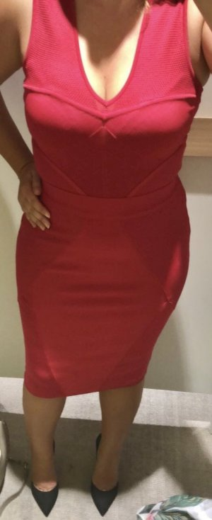 3bbecf563f1 Guess by Marciano Bandeau Dress raspberry-red-magenta