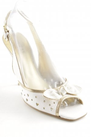 Guess by Marciano High Heel Sandal white-gold-colored elegant