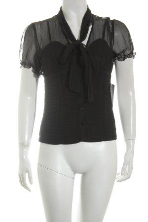 Guess by Marciano Kurzarm-Bluse schwarz Elegant