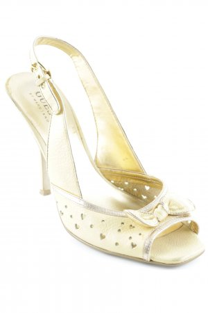 Guess by Marciano Peeptoe Pumps goldfarben-sandbraun Casual-Look